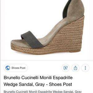 Sandal ShoesWedge Brunello Sandal Cucinelli Cucinelli Brunello ShoesWedge Brunello Cucinelli Poshmark Poshmark Sandal ShoesWedge tQrBhCxsd